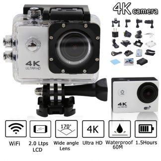?4K Ultra HD Sportkamera, Vattentålig, Wi-Fi