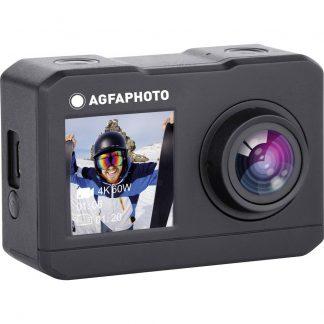 AgfaPhoto Action Cam Actionkamera 4K, Dubbel display, vattentät, WLAN, Slow motion/ ihopdragen tid