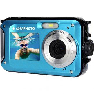 AgfaPhoto Realishot WP8000 Digitalkamera 24 Megapixel Blå inkl. Batteri, Väska Undervattenskamera, Vattentät till 3 m, Full HD Video, Frontdisplay, Integrerat