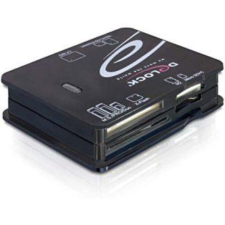 DeLOCK minneskortläsare, USB, microSD/SDHC/SDXC, CF, xD, SM, MMC