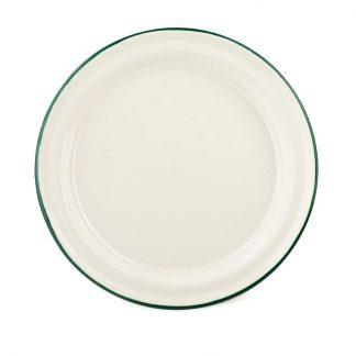 Deluxe Enamalware Plate Cream