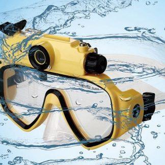 Dykmask, undervattenskamera för videofilmer och fotografering