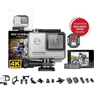 Easypix GoXtreme Vision 4K + Actionkamera 4K, Stänkvattenskydd, WLAN, vattentät, Touch-Screen