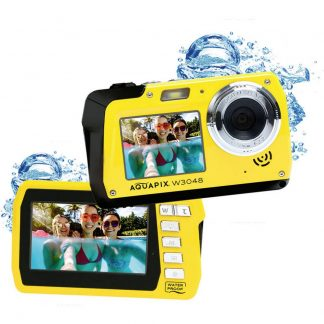 Easypix W3048-Y Edge Digitalkamera 48 Megapixel Gul Undervattenskamera, Frontdisplay