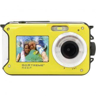 GoXtreme Reef Yellow Digitalkamera 24 Megapixel Gul Full HD Video, Vattentät till 3 m, Undervattenskamera, Stöttålig, med inbyggd blixt