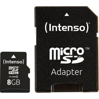 Intenso microSDHC-Kort 8 GB Class 4 inkl. SD-adapter
