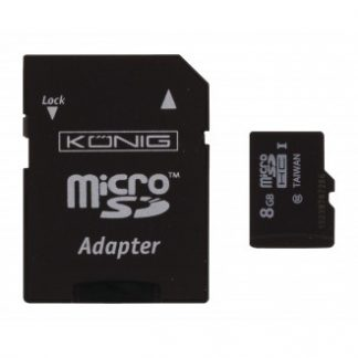 König MicroSDHC-minneskort klass 10 8 GB