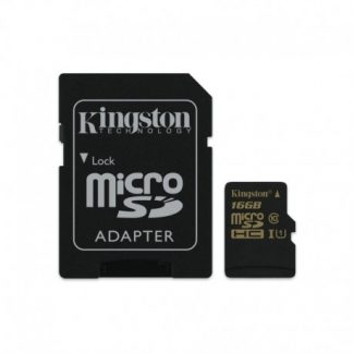 Kingston 16GB MicroSDHC Class 10 Uhs-i + Sd Adapter
