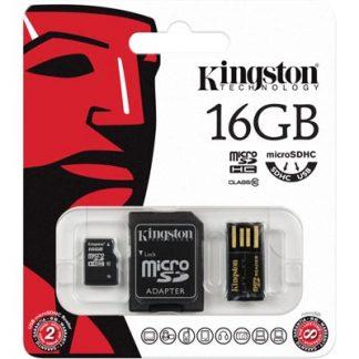Kingston 16GB Multi Kit / Mobility Kit, microSDHC, USB, SDHC, Class 10