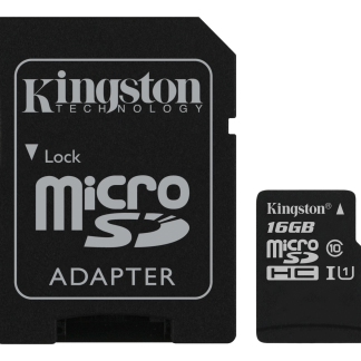 Kingston 16GB microSDHC Canvas Select 80R CL10 UHS-I Card+SD Adapter