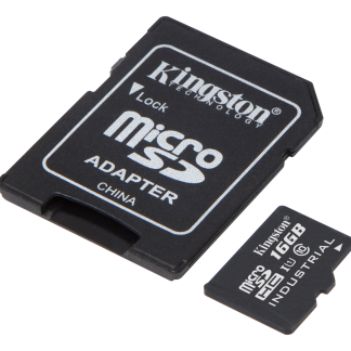 Kingston 16GB microSDHC UHS-I Class 10 Industrial Temp Card + SD Adapt