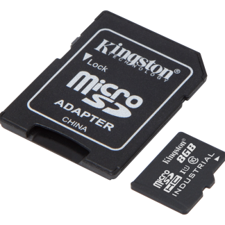 Kingston 8GB microSDHC UHS-I Class 10 Industrial Temp Card + SD Adapte