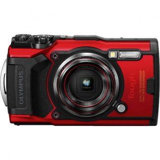 Olympus Tough TG-6 Digitalkamera 12 Megapixel Zoom (optisk): 4 x Röd GPS, Stöttålig, Vattentät till 15 m, Frostbeständig, Dammskyddad, WiFi,