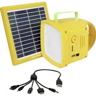 Pro Mate SolarTorch1 SolarTorch-1 Campinglampa LED 90 lm Uppladdningsbara batteri Gul