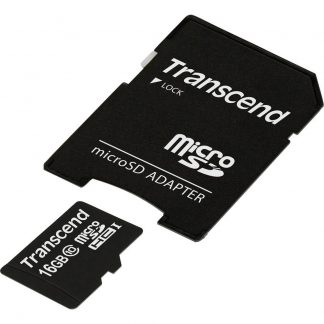 Transcend Premium microSDHC-Kort 16 GB Class 10, UHS-I inkl. SD-adapter