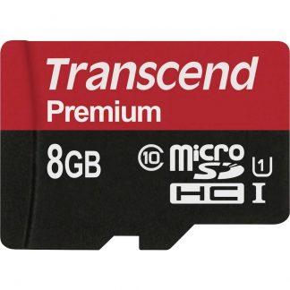 Transcend Premium microSDHC-Kort 8 GB Class 10, UHS-I