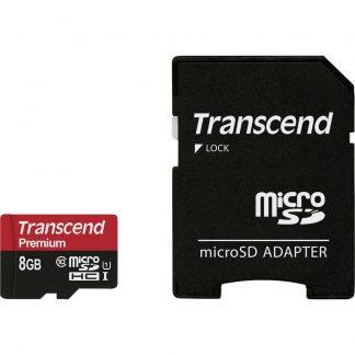 Transcend Premium microSDHC-Kort 8 GB Class 10, UHS-I inkl. SD-adapter