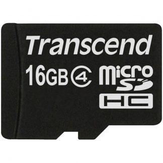 Transcend Standard microSDHC-Kort 16 GB Class 4