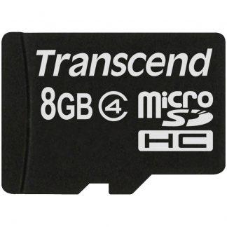 Transcend Standard microSDHC-Kort 8 GB Class 4