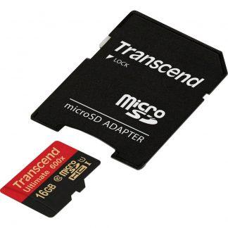 Transcend Ultimate (600x) microSDHC-Kort 16 GB Class 10, UHS-I inkl. SD-adapter