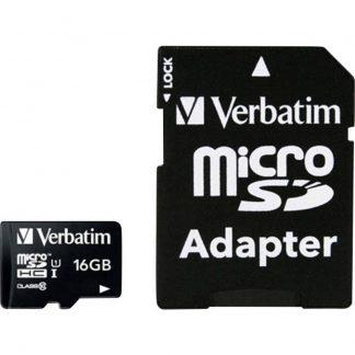 Verbatim MICRO SDHC 16GB CL 10 ADAP microSDHC-Kort 16 GB Class 10 inkl. SD-adapter