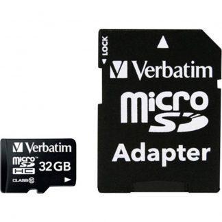 Verbatim MICRO SDHC 32GB CL 10 ADAP microSDHC-Kort 32 GB Class 10 inkl. SD-adapter