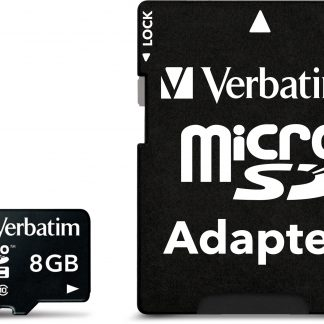 Verbatim microSDHC, 8GB, Class 10, inkl adapter