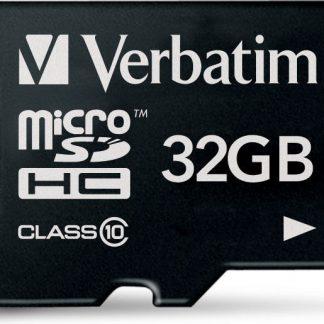 Verbatim minneskort, microSDHC Class 10, 32GB
