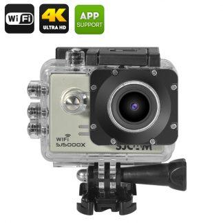 WiFi actionkamera med 4K-upplösning och loopinspelning, vattentät 30m